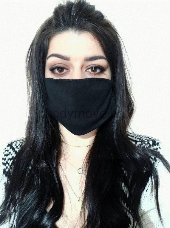 Предпазна маска за лице (коронавирус) черна.